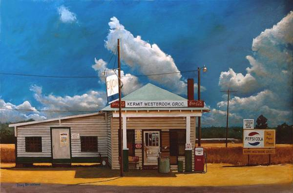 Wall Art - Painting - Westbrook Country Store by Doug Strickland