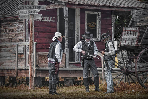Photograph - Western Cowboy Re-enactors At 1880 Town by Randall Nyhof