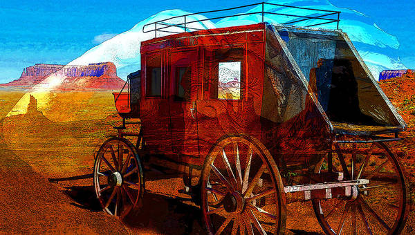 Wagon Digital Art - Western Ghosts by David Lee Thompson