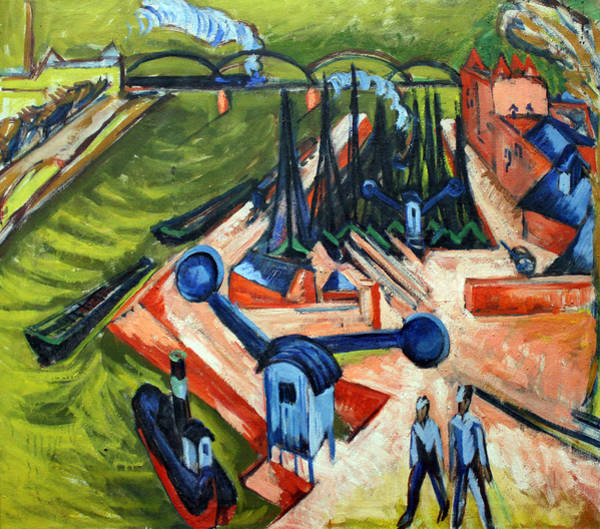 Painting - Western Harbour In Frankfurt  by Ernst Ludwig Kirchner
