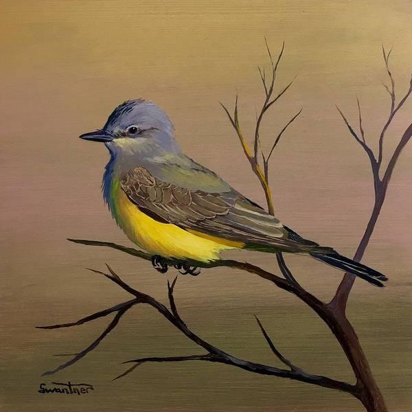 Flycatcher Painting - Western Kingbird by David Swantner