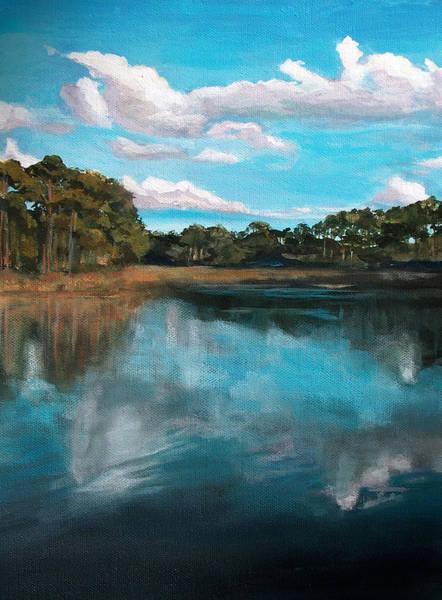 Wall Art - Painting - Western Lake At Watercolor by Racquel Morgan