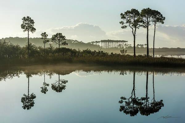 Western Lake Misty Morning Art Print