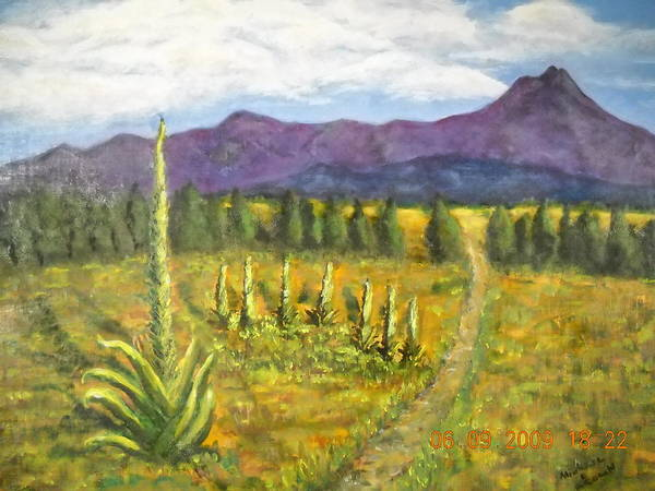 Wall Art - Painting - Western Landscape by Michael L Brown