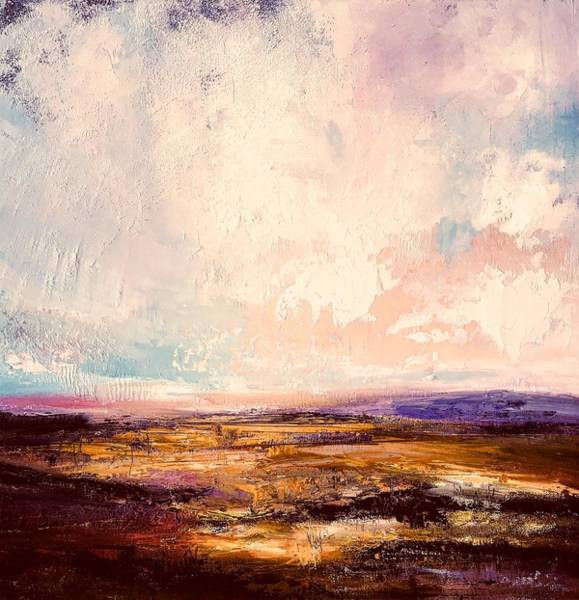 Skyscape Painting - Western Light  by Julia S Powell
