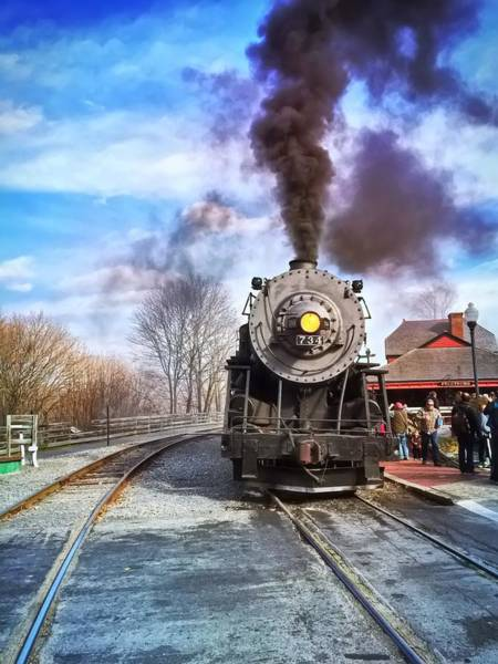 Photograph - Western Maryland Steam Engine by Chris Montcalmo