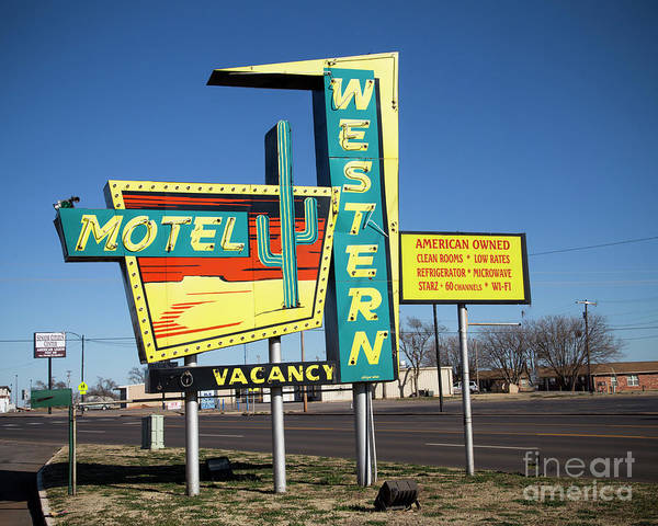 Wall Art - Photograph - Western Motel On Route 66 by Twenty Two North Photography