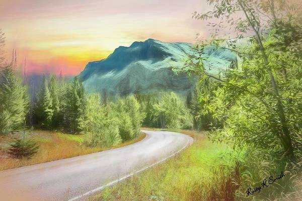 Digital Art - Western Mountain Landscape Art Photograph. by Rusty R Smith