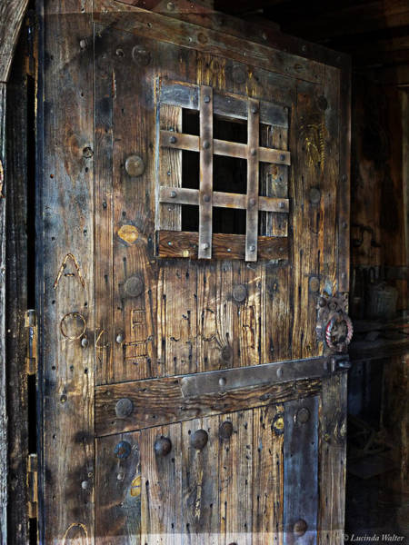 Photograph - Western Rustic Door by Lucinda Walter