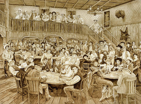 Wall Art - Painting - Western Saloon by Tim Joyner