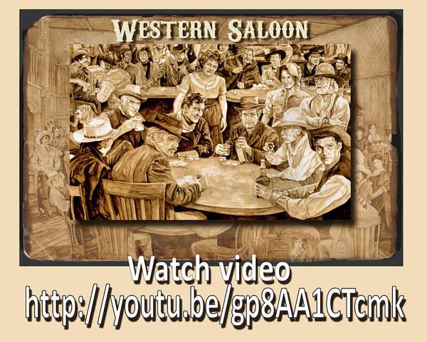 Painting - Western Saloon Video by Tim Joyner