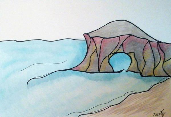 Drawing - Western Sea by Loretta Nash