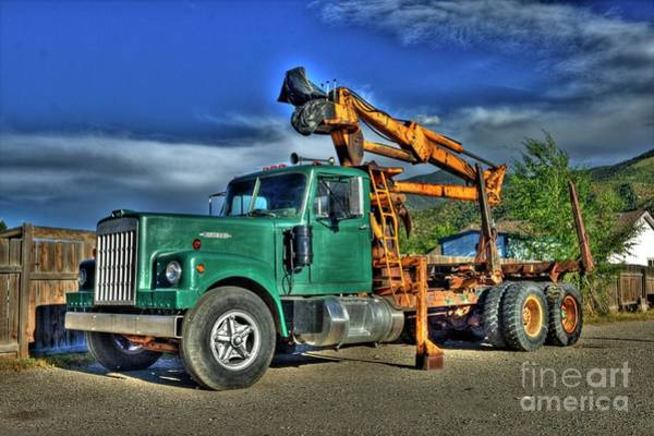 Wall Art - Photograph - Western Logging Truck by Tony Baca