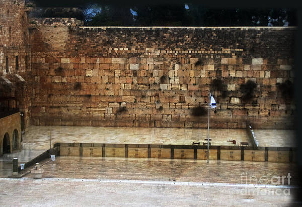 Photograph - Empty Western Wall by Doc Braham