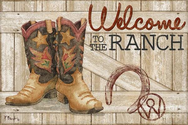 Wall Art - Painting - Western Wear - Welcome To The Ranch by Paul Brent