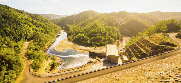 Electricity Photograph - Western Wilderness Hydro Dam by Jorgo Photography - Wall Art Gallery