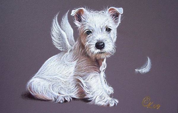 Westie Angel Art Print