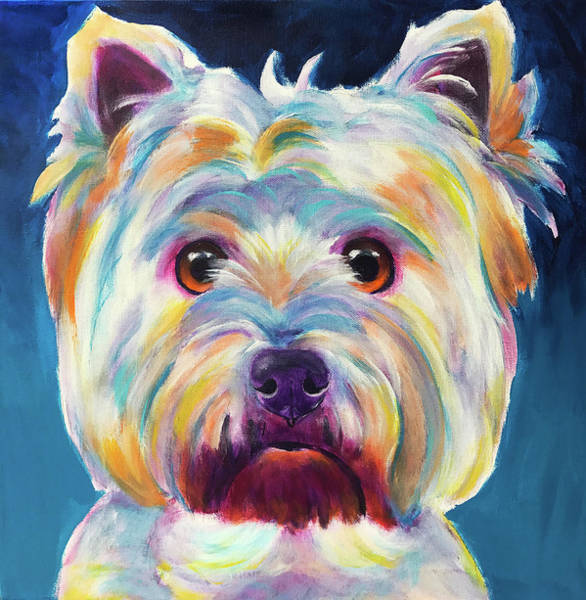 Wall Art - Painting - Westie - Chispy by Alicia VanNoy Call
