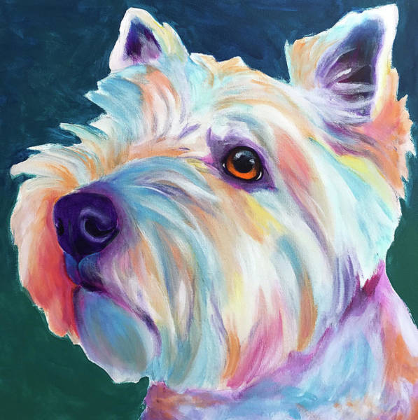 Wall Art - Painting - Westie - Chispy Profile by Alicia VanNoy Call