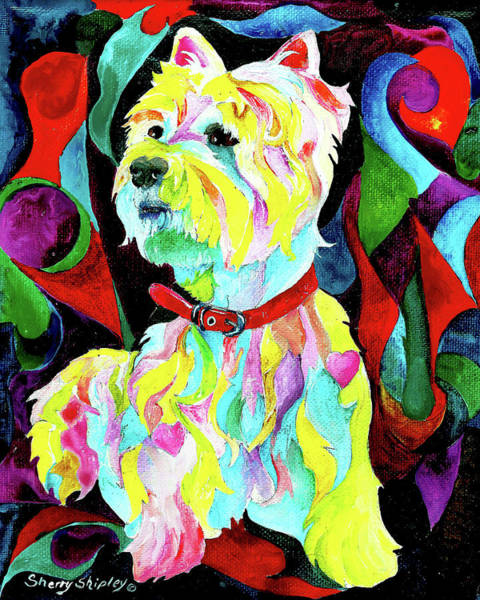 Painting - Westie by Sherry Shipley