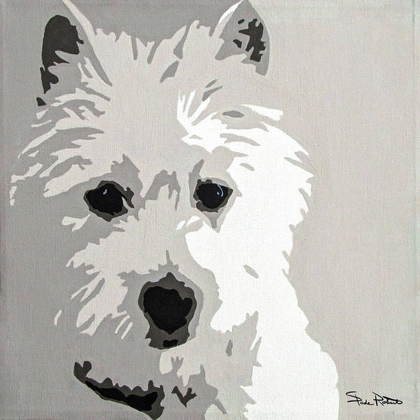 Pop Wall Art - Painting - Westie by Slade Roberts