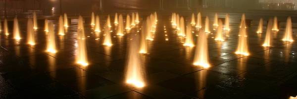 Photograph - Westin Crown Center Dancing Waters by David Dunham