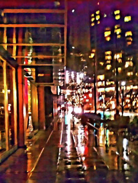 Digital Art - Westlake Rain by Paisley O'Farrell