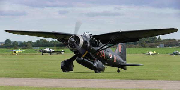 Photograph - Westland Lysander Shutting Down by Gary Eason