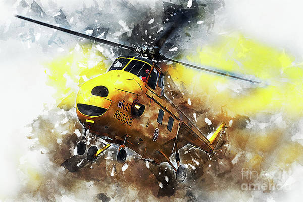 Whirlwind Digital Art - Westland Whirlwind Painting by J Biggadike