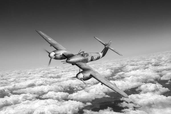 Photograph - Westland Whirlwind Portrait Black And White Version by Gary Eason