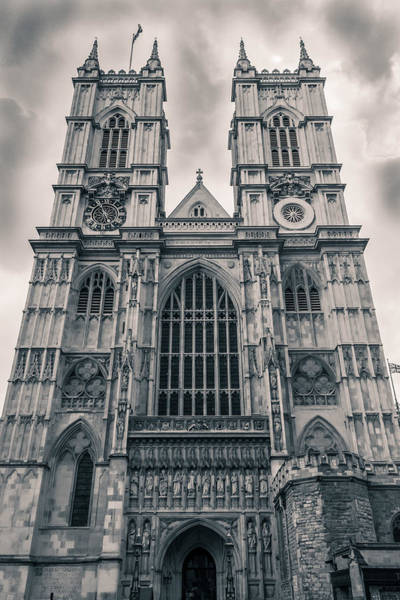 Westminister Abbey Bw Art Print