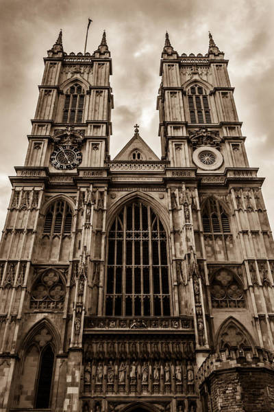 Westminister Abbey Sepia Art Print