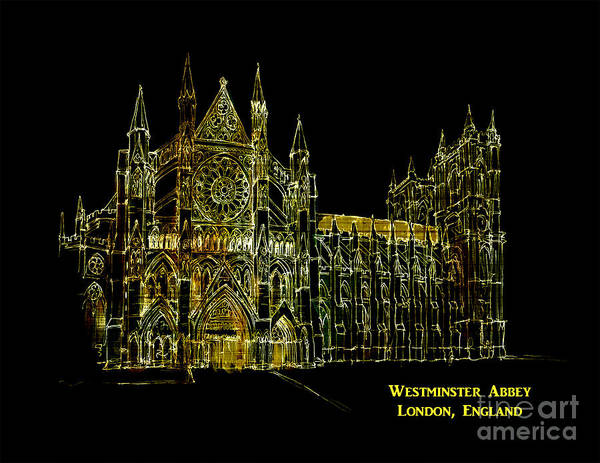 Digital Art - Westminster Abbey 2016 by Kathryn Strick