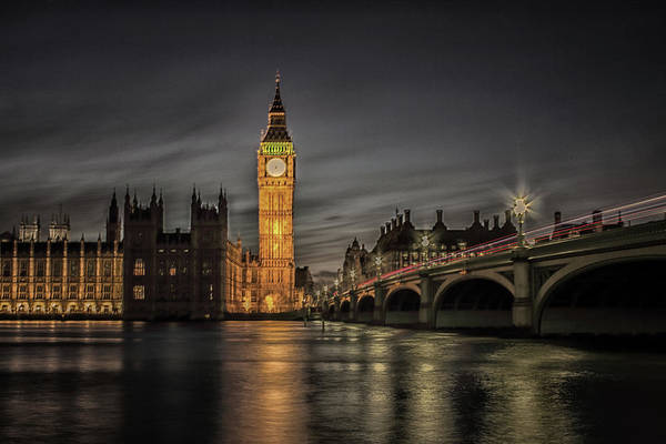 Westminster At Night Art Print