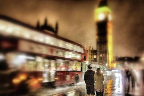 Photograph - Westminster Bridge In Rain by Jim Albritton
