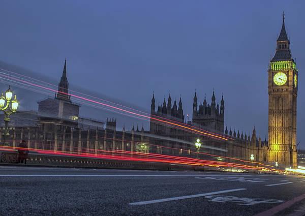 Wall Art - Photograph - Westminster Bridge Lights by Martin Newman