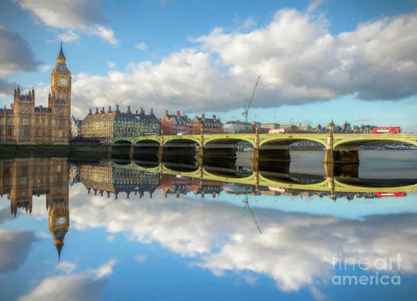 Westminster Bridge Photograph - Westminster Bridge London by Adrian Evans