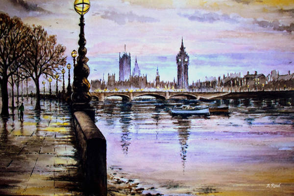 Wall Art - Painting - Westminster View by Andrew Read