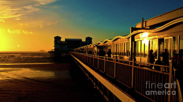 Weston Photograph - Weston Pier At Sunset by Rob Hawkins