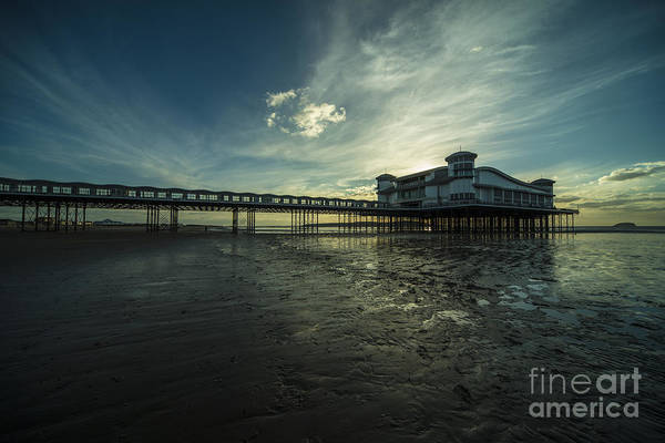 Weston Photograph - Weston Super Mare Pier At Dusk  by Rob Hawkins