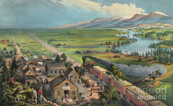 Wall Art - Painting - Westward The Course Of The Empire Takes Its Way by Currier and Ives