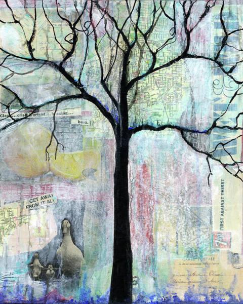 Wall Art - Painting - Wet And Wild Tree by Blenda Studio