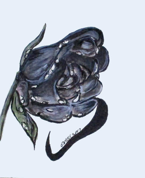 Painting - Wet Charcoal Rose by Clyde J Kell