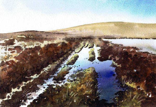 Wall Art - Painting - Wet Lane Cupwith Reservoir by Paul Dene Marlor