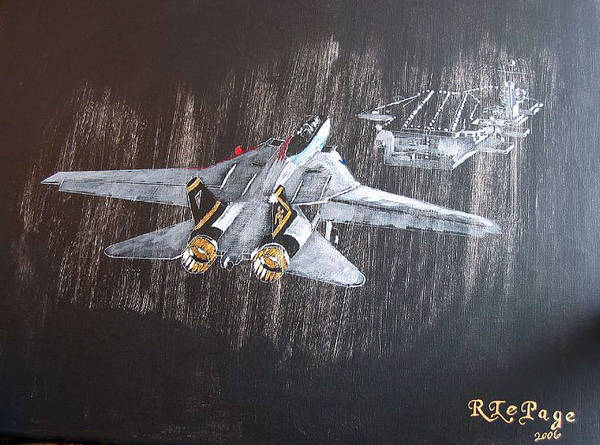 Painting - Wet Night Landing by Richard Le Page