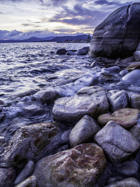 Wet Rocks At Sunset Art Print