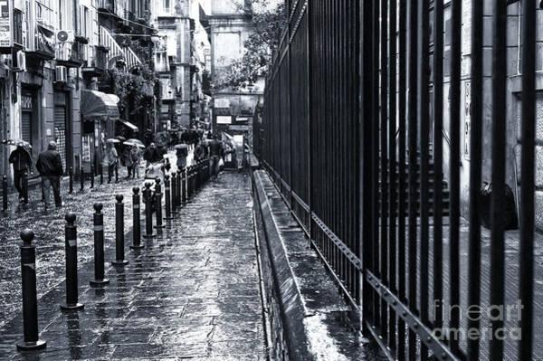 Wall Art - Photograph - Wet Sidewalk In Naples by John Rizzuto
