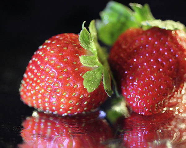 Photograph - Wet Strawberries by Angela Murdock
