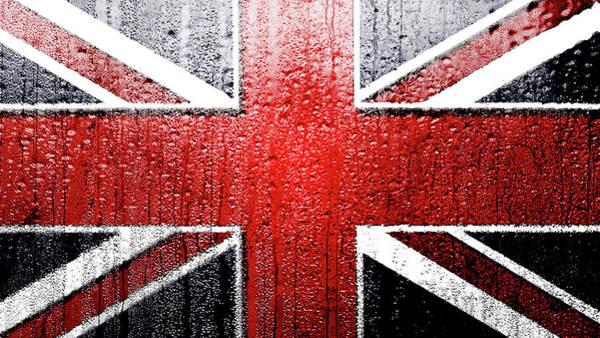 Blitz Digital Art - wet Union Jack design by Blitz Photos