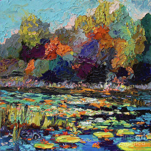 Painting - Wetland Pond Modern Impressionism  by Ginette Callaway